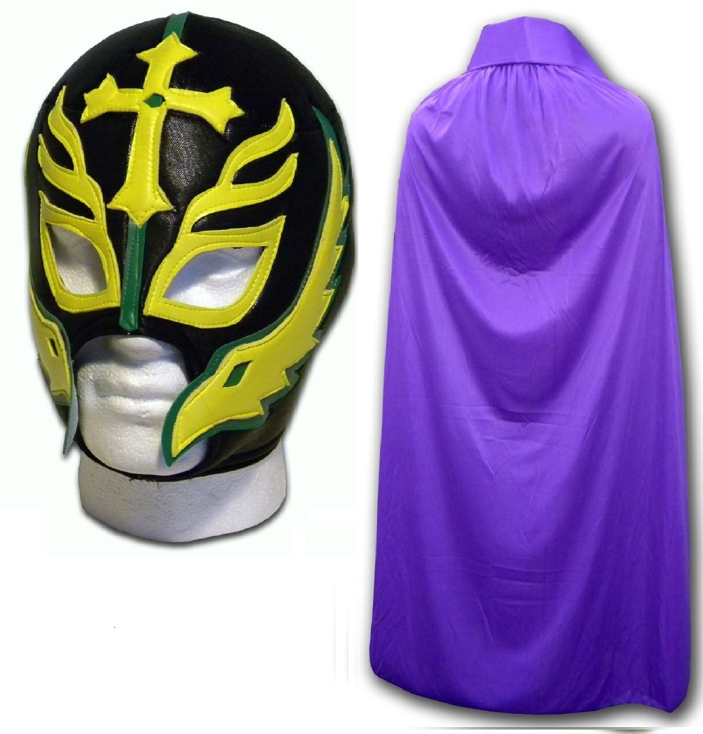 WRESTLING MASKS UK Men's Son Of The Devil Caribe Luchador Mask With Cape One Size Purple