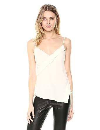 f2d90038d2 Amazon.com  Theory Women s V Neck Crossover Silk Tank  Clothing