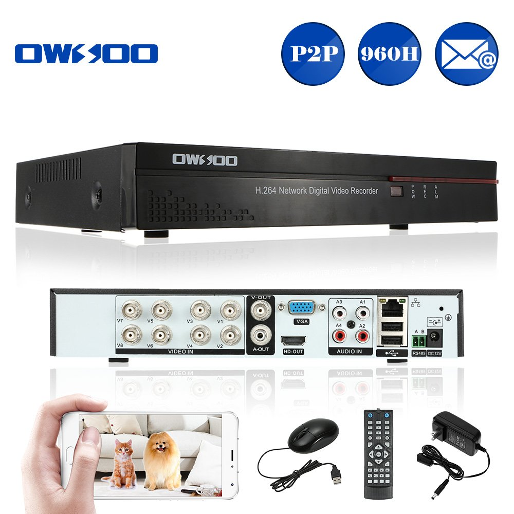 Amazon.com : OWSOO 8 Channel DVR Full 960H/D1 H.264 P2P Network CCTV  Security Phone Control Motion Detection Email Alarm for Surveillance Camera  : Camera & ...