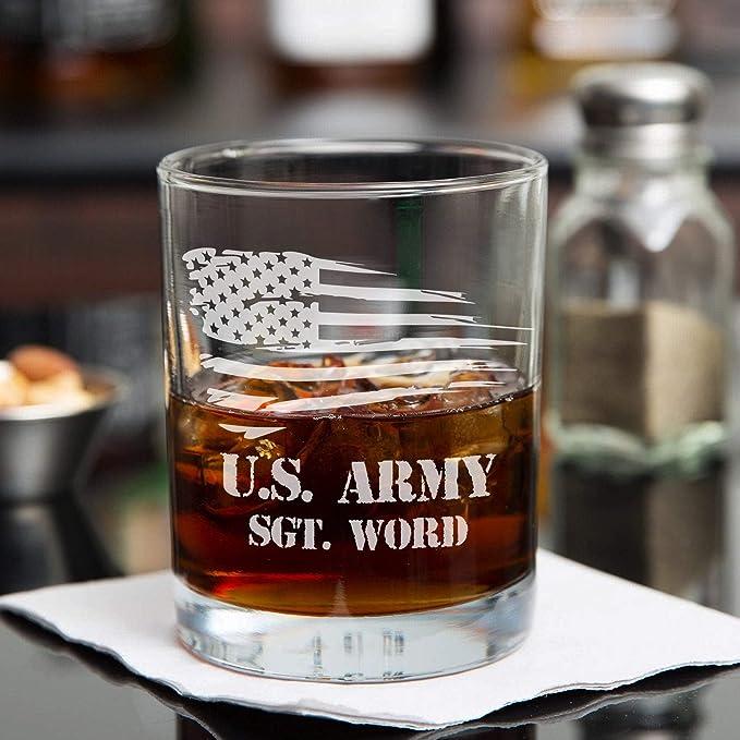 Vasos de whisky personalizados, diseño de soldado de la ...
