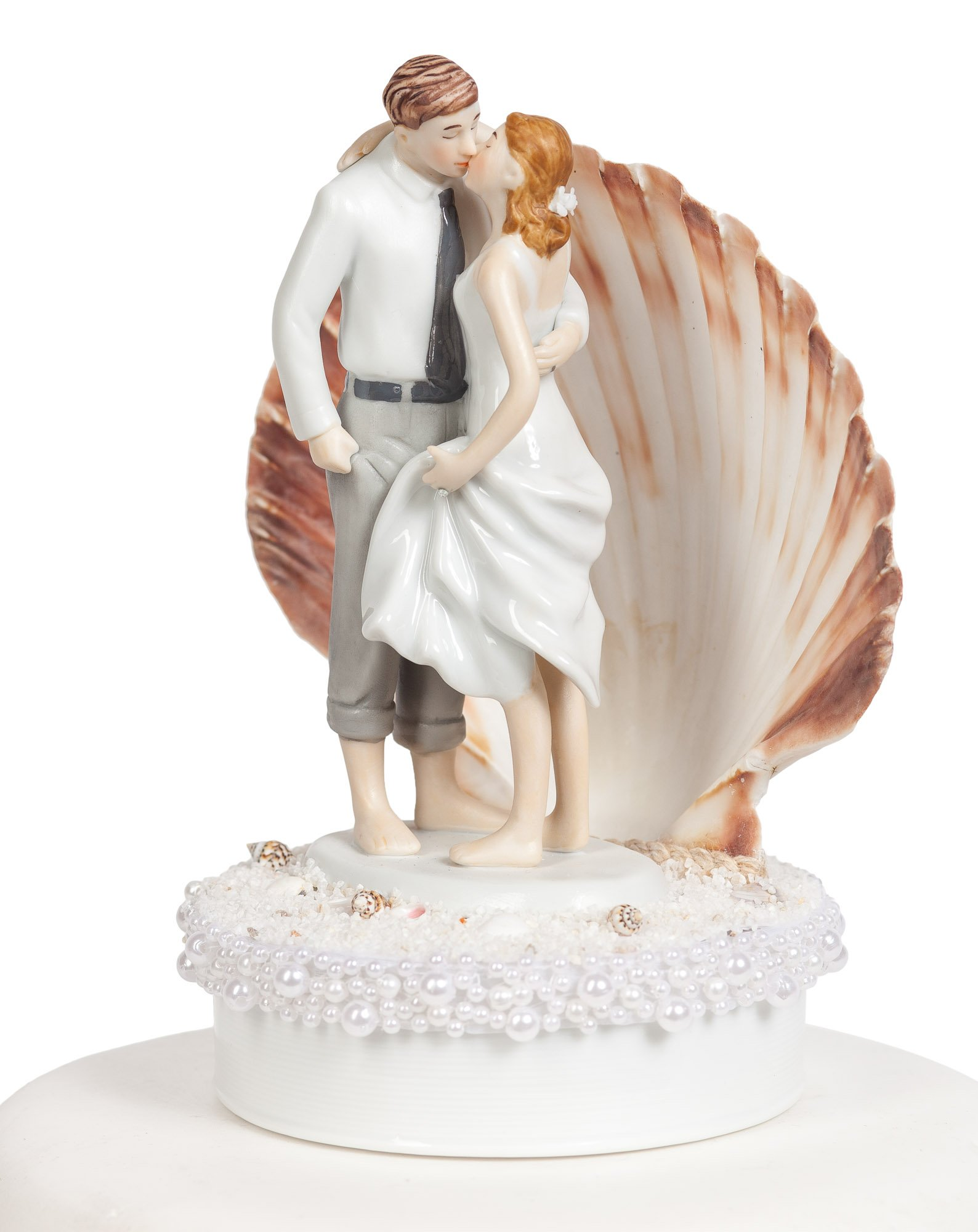 Wedding Collectibles Beach Get Away Shell Wedding Cake Topper by Wedding Collectibles (Image #2)