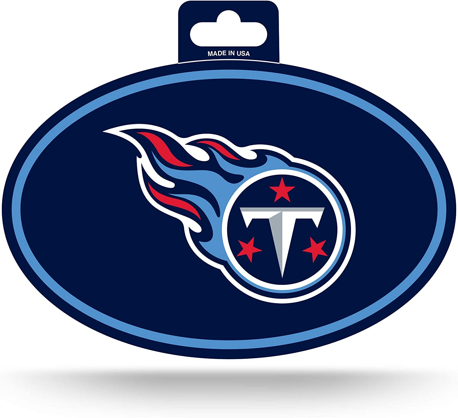 NFL Rico Industries  Color Team Logo Oval Sticker Tennessee Titans
