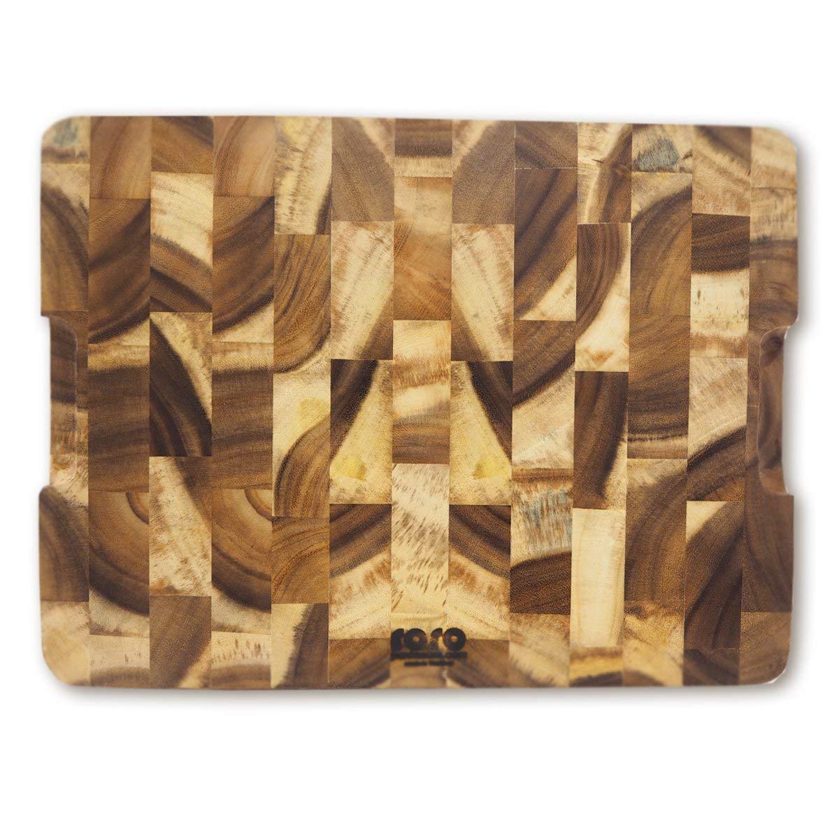 roro Rectangular End-Grain Acacia Kitchen Wood Cutting Board and Block by roro (Image #4)