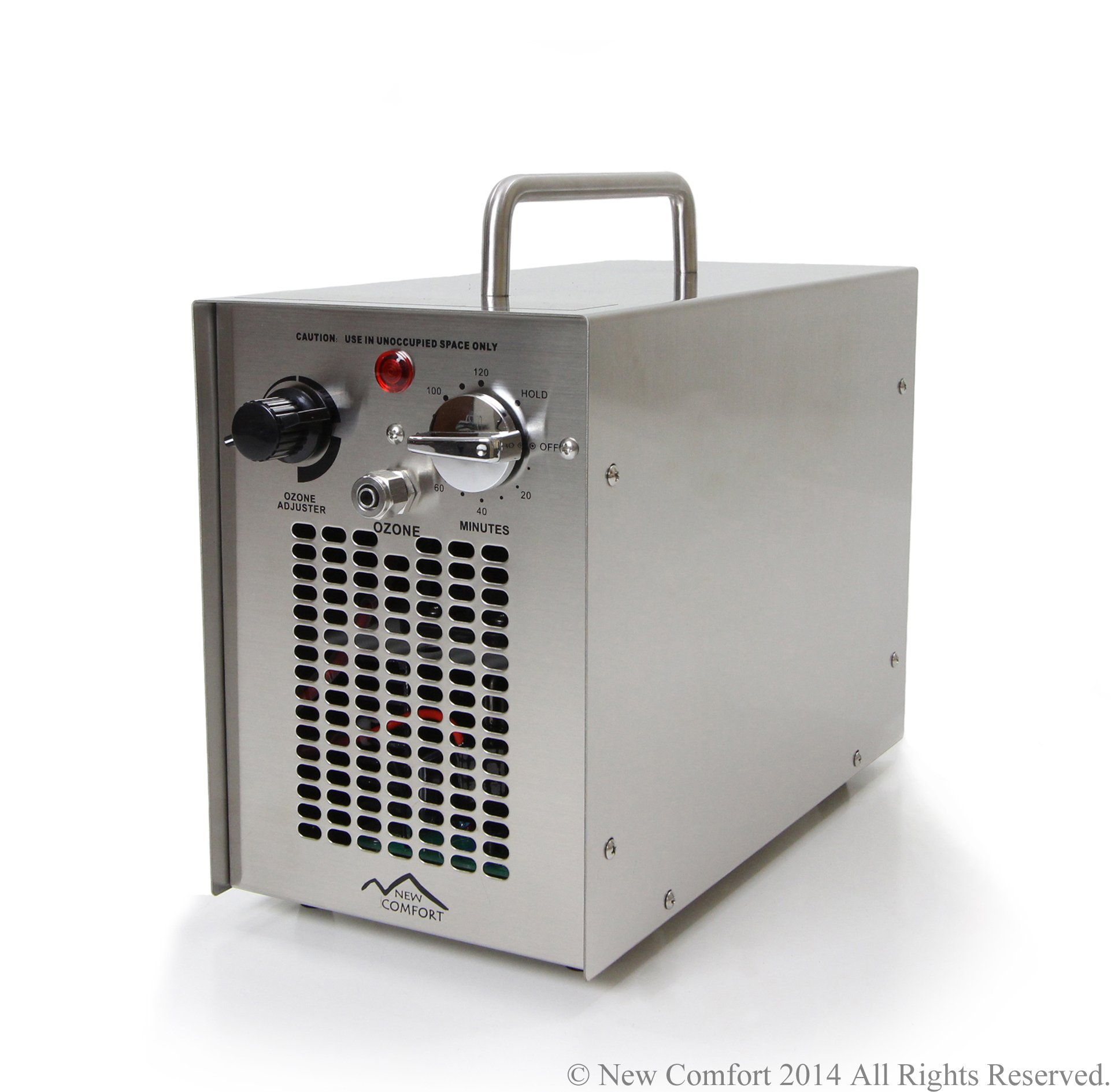 New Comfort Dual Action Stainless Steel Commercial 5000 mg/h Ozone Generator and Purifier for Water and Air Use