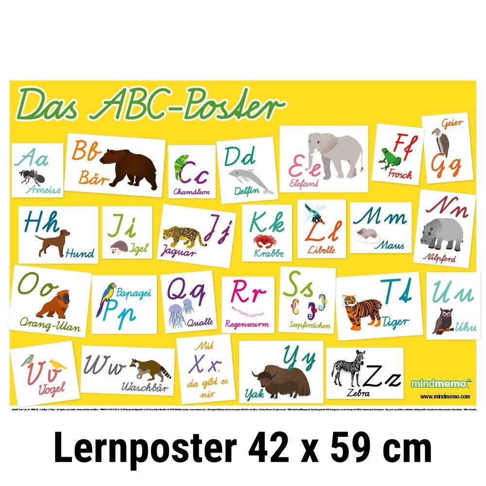 mindmemo Lernposter   Das Tier ABC Poster für Kinder in ...