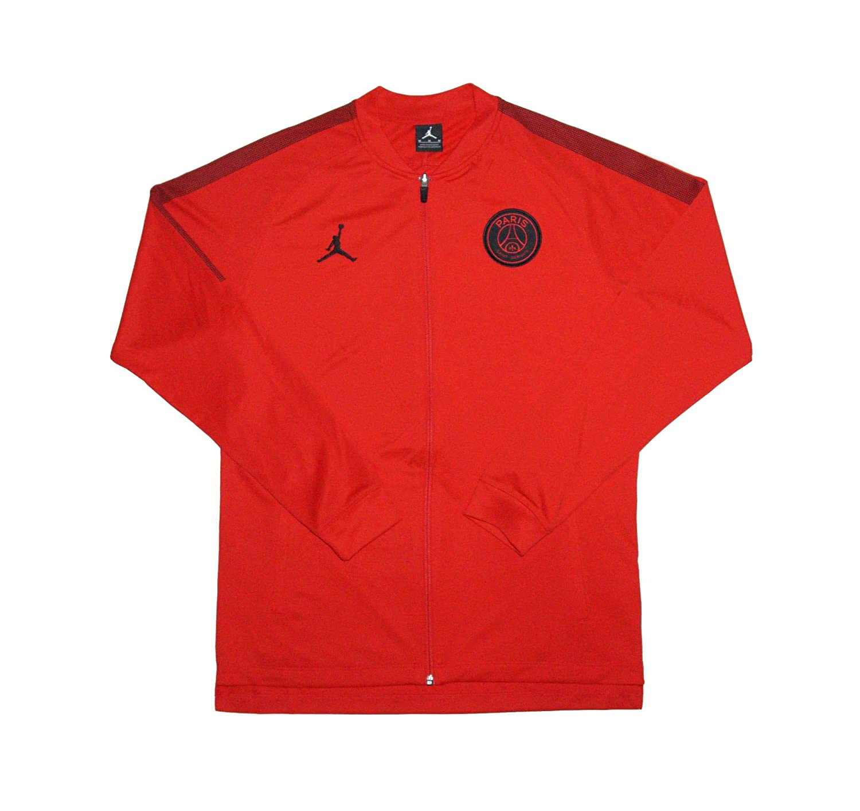 Mens Official 2018-2019 Paris Saint Germain PSG Jordan Edition Jacket AQ0964-657 Red