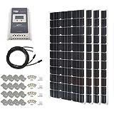 HQST 400 Watt 12 Volt Monocrystalline Slim Solar Panel Kit with 40A MPPT LCD Display Charge Controller