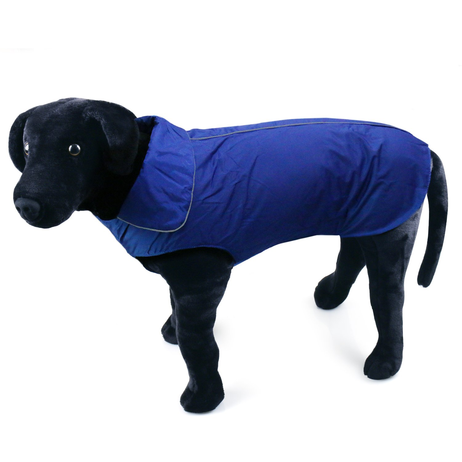 bluee XS(chest 15.7\ bluee XS(chest 15.7\ RilexAwhile Dog Jacket, Cozy Waterproof Windproof Polyester-Fleece Lined Reflective Pet Jacket Dog Vest Warm Dog Apparel for Small Medium Large Dogs in Winter Autumn Days (XS(Chest 15.7 ), bluee)