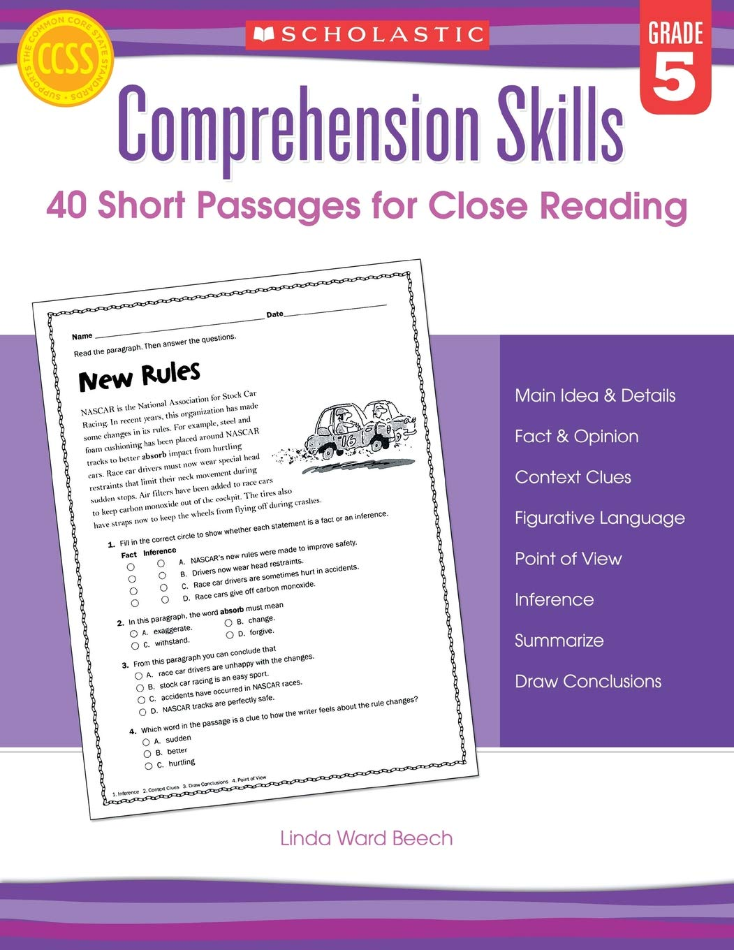 - Comprehension Skills: Short Passages For Close Reading: Grade 5