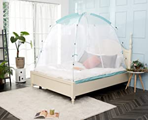 BESTEN Mosquito Net Tent with Sturdy Poles for Bed and Floor Easy Set Up and Portable (Twin)