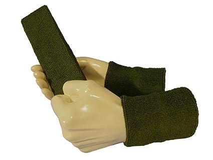 70144a28e16e COUVER Cotton Solid Plain Sweatband Set(Headband x 1+ 4 quot  Wristband x