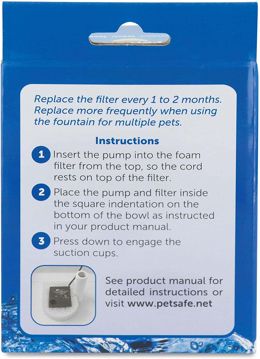 PetSafe Drinkwell Replacement Foam Filters for Dog and Cat Water Fountains: Pet Supplies