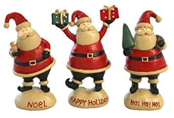 Santa Claus Figurines Christmas Gift For Kids Desk Decoration Indoor Outdoor Accessories