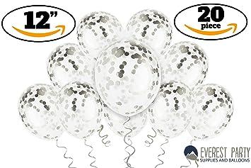 Amazon Silver Confetti Balloons
