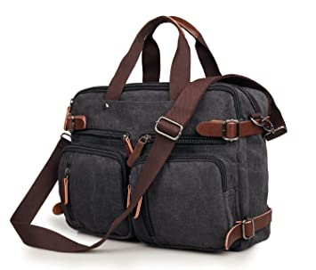 Amazon.com: Laptop Backpack Messenger Bag for Men & Women ...
