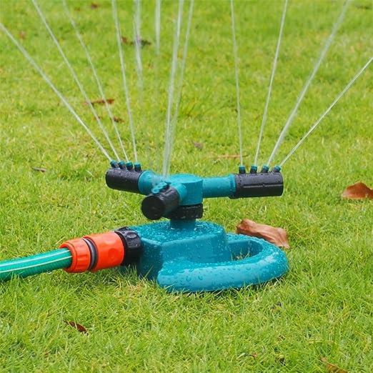 New_Soul Rociador de Jardín Aspersor de Riego Rociador Rotación Césped Rociador: Amazon.es: Jardín