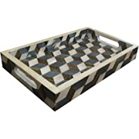 12x8 3D Effects Decorative Tray Breakfast Coffee Table Top Vintage Handmade Serving Tray from Handicrafts Home