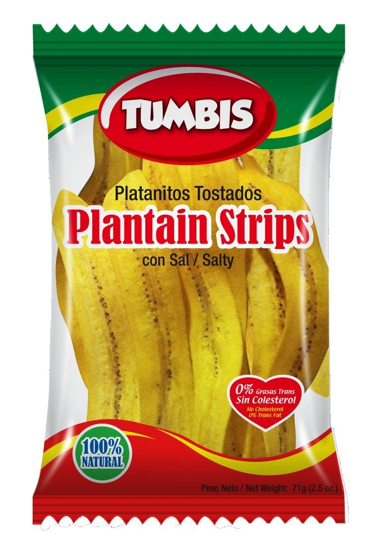 Tumbis Plantain Strips, 2.5 Ounce (Pack of 24)