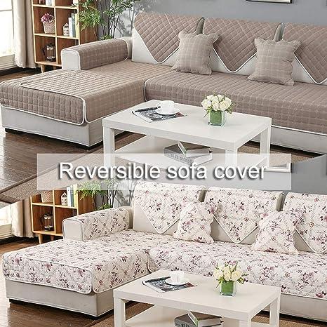 ZHI-AN Reversible Fundas De Sofa,Acolchado Suave ...
