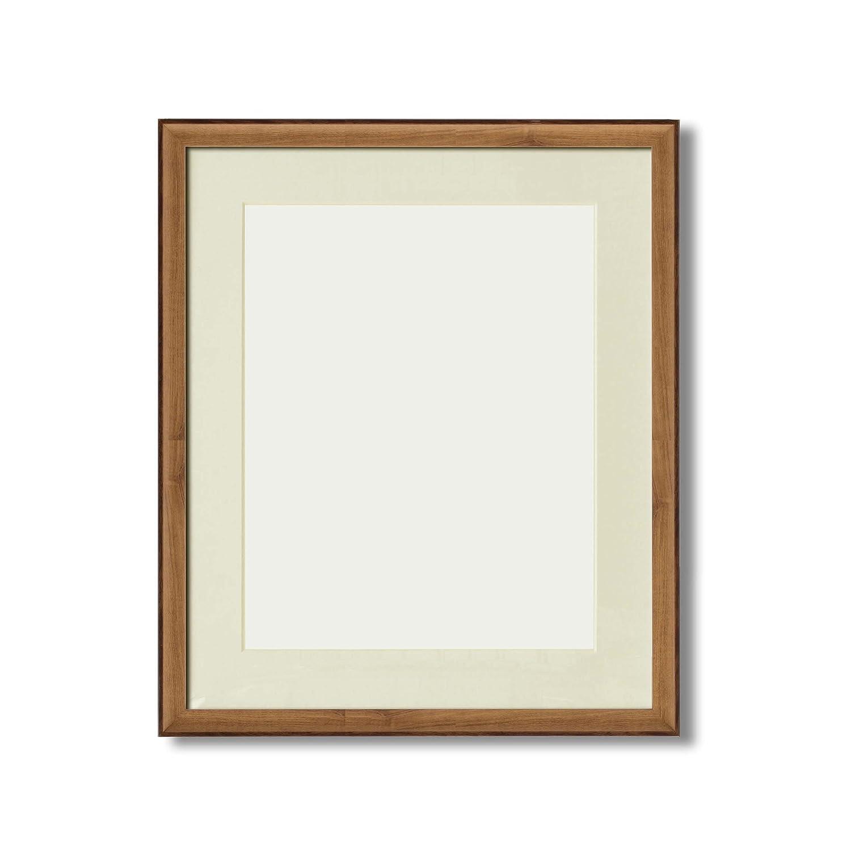 【軽量水彩額】マット壁掛けひもアクリル付 ■8155水彩額F8(441×366) マット付(オーク) B01MSWRVK0 F8|オーク オーク F8