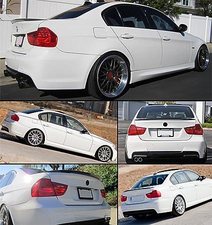 Cuztom Tuning Performance Style High Kick Carbon Fiber Trunk Lid Spoiler Fits for 2007-2012 BMW E90 328i 325i M3 Sedan