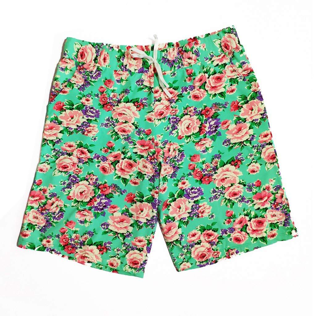 GREFER Mens Printed Swim Trunks Quick Dry Shorts Swimwear Bathing Suits