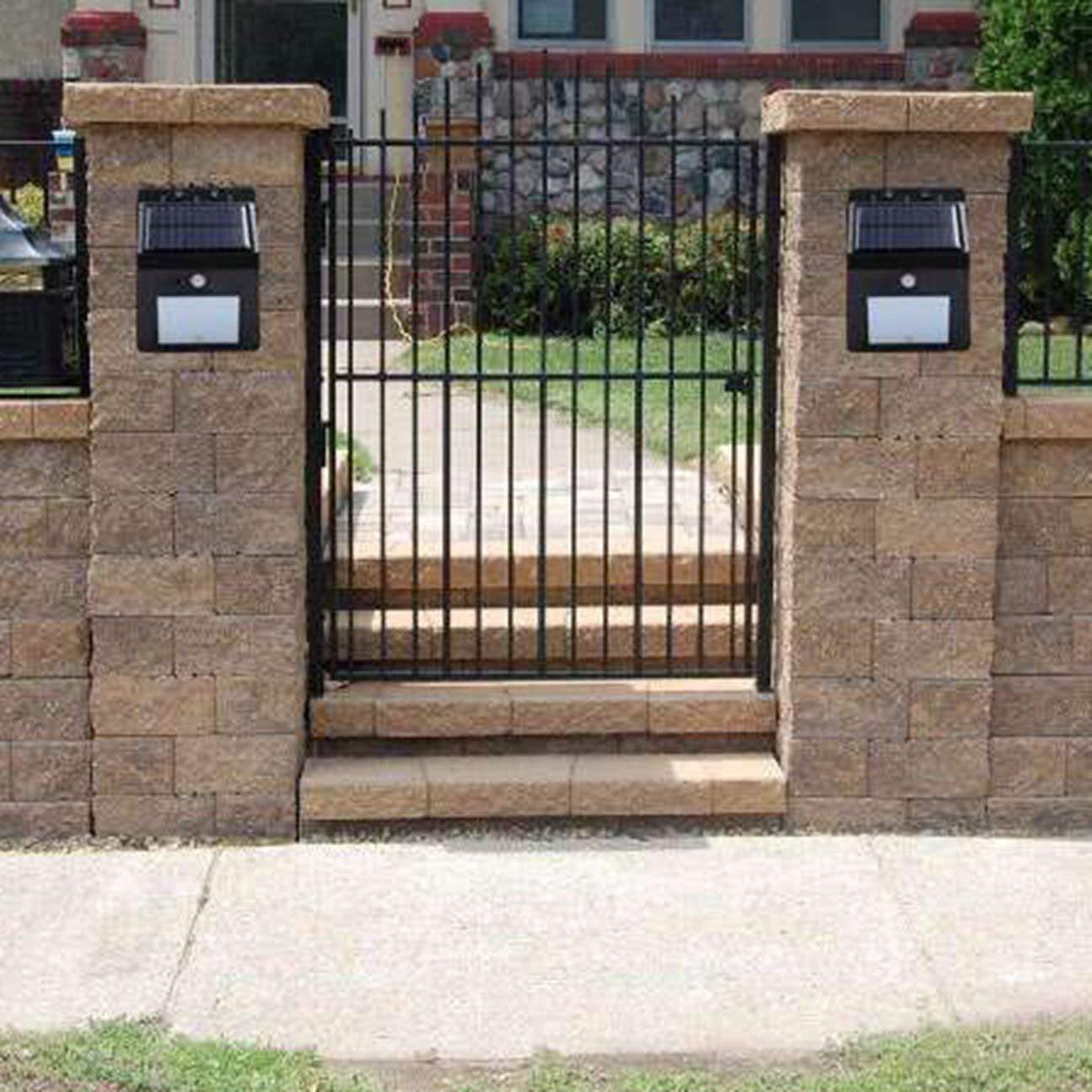 COULEUR: noir Imperm/éable 20 lumi/ères solaires LED capteur de mouvement mur lumi/ère ext/érieure lampe jardin cour