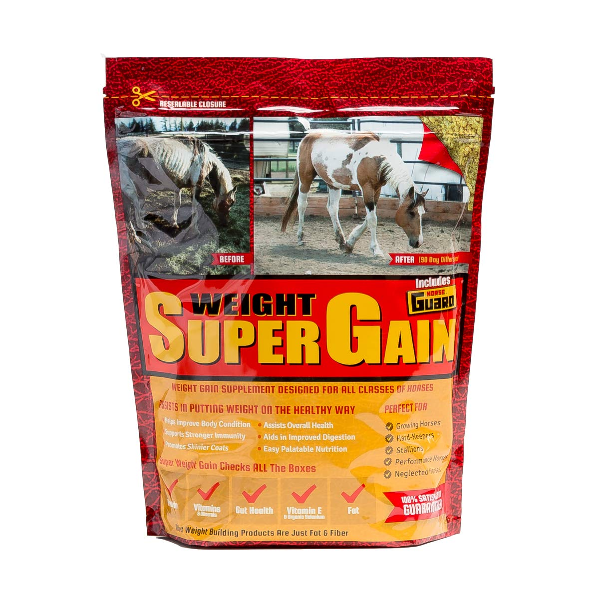 Horse Guard Super Weight Gain Equine Vitamin Mineral, Probiotic & Weight Gain Supplement, 10 lb by Horse Guard