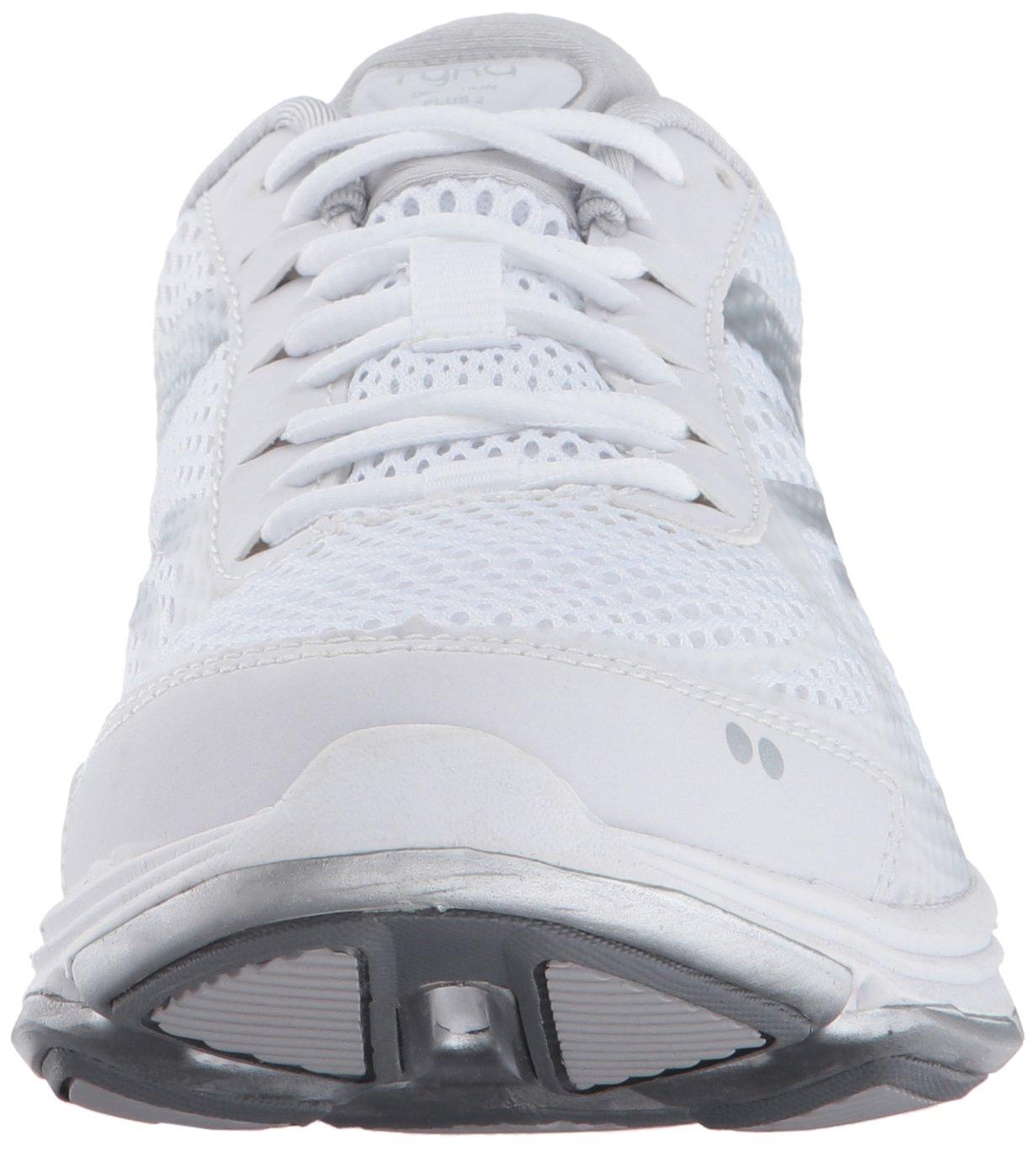 Ryka Women's Devo Plus 2 Walking Shoe B01N4WBYBP 8.5 B(M) US White/Blue