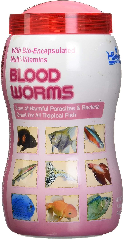 Hikari Bio-Pure Freeze Dried Blood Worms For Pets, 1.58-Ounce
