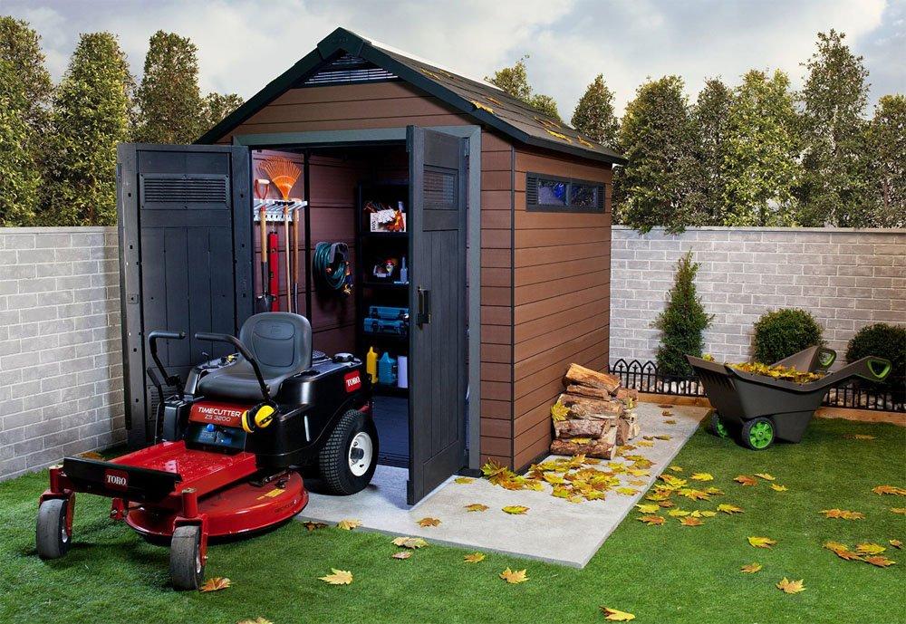 Caseta de jardín madera de Composite madera, 230 x 224 x 252-PEGANE-cm: Amazon.es: Hogar