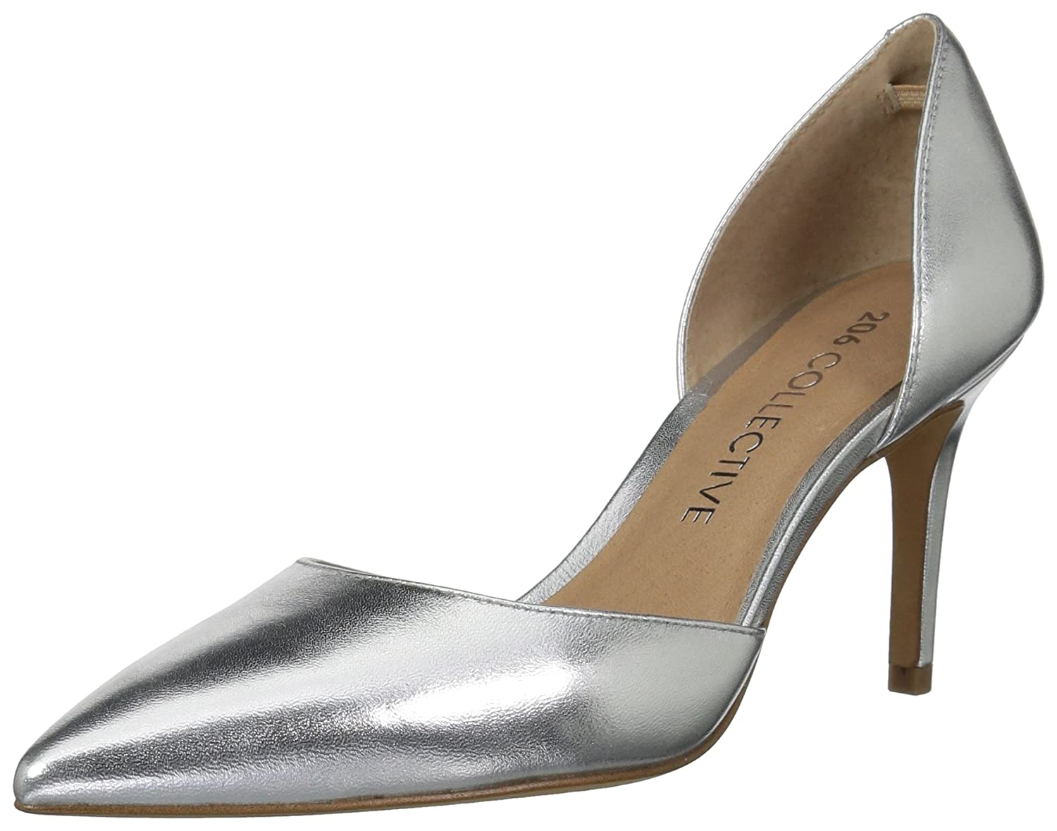 206 Collective Women's Adelaide D'Orsay Dress Pump B07895SMJP 5 B(M) US|Silver Leather