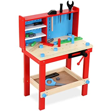 Miraculous Infantastic Childrens Work Bench With Tools Play Set Kids Toy Workshop Accessories Creativecarmelina Interior Chair Design Creativecarmelinacom