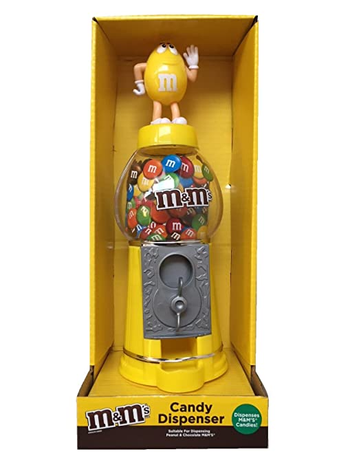 M&Ms - Dispensador de chocolate y caramelo, color amarillo, ...