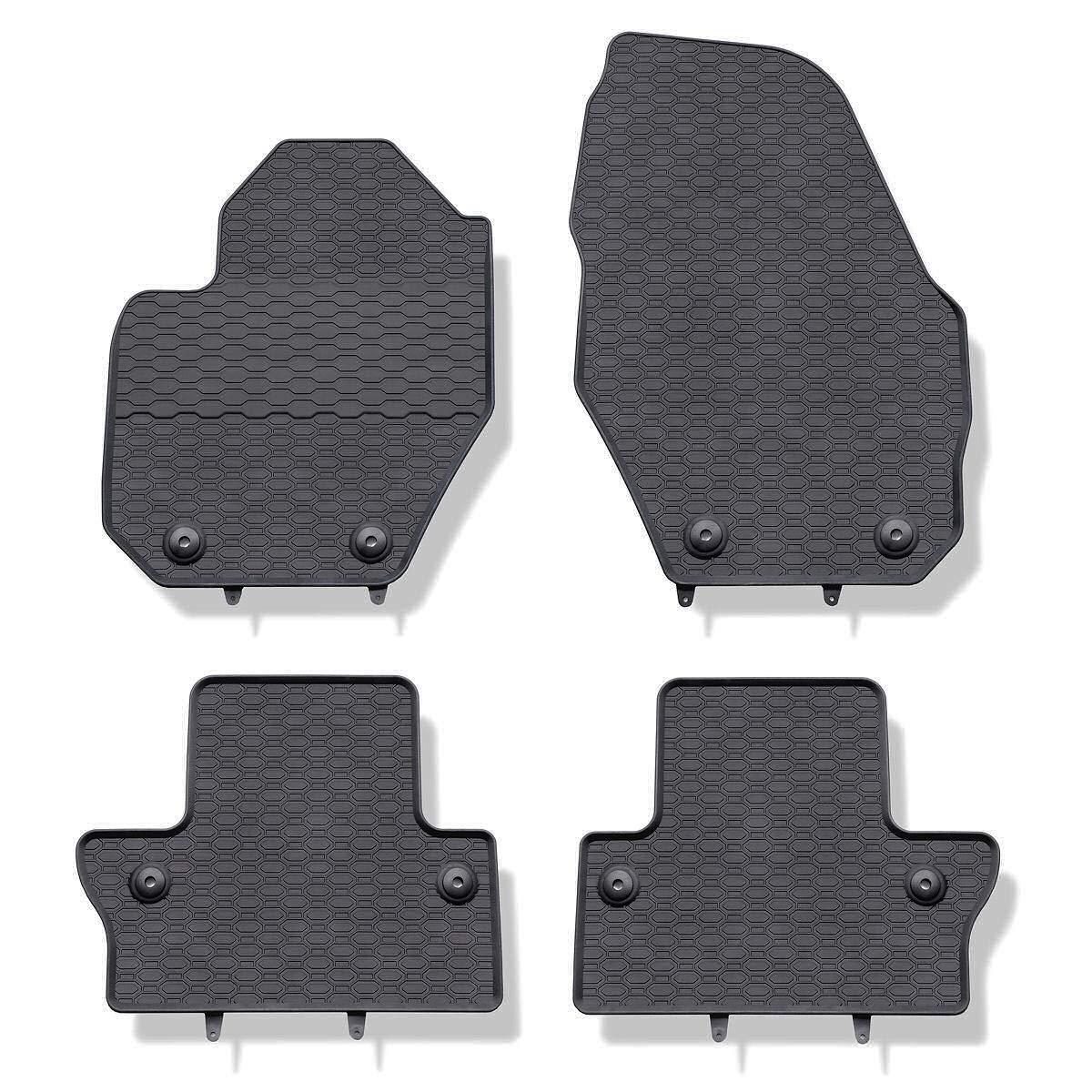 5902538449243 Alfombrillas de goma negro un ajuste perfecto 4-piezas