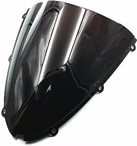 Black Windscreen Windshield for Kawasaki NINJA ZX6R ZX 6R 636 05-08 ZX10R 06-07