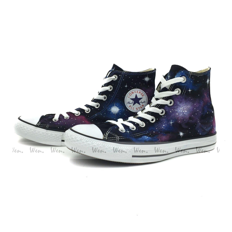 8eb343656484 Unique Converse Galaxy Sneaker Men Women Hand Painted Fashion Canvas Shoes  Presents  Amazon.co.uk  Shoes   Bags