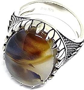 خاتم مطلي بالفضة متعدد