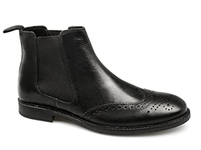 926b165c Red Tape BOYNE Mens Leather Brogue Chelsea Boots Black