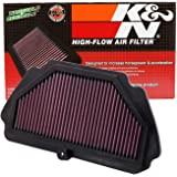 K&N Filtro de ar do motor: alto desempenho, premium, filtro de ar Powersport: serve para KAWASAKI 2009-2019 (Ninja ZX-6R, ZX-