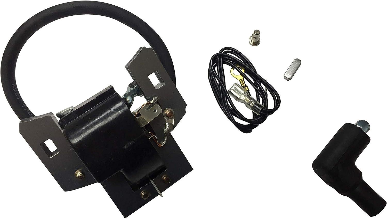 ENGINERUN 397358 Ignition Coil Module Magneto for Briggs & Stratton 5HP Engines 298316 395491 697037 John Deere PT10998 Toro 62933 629222 62923 Stens 440-401 Oregon 33-340 397358