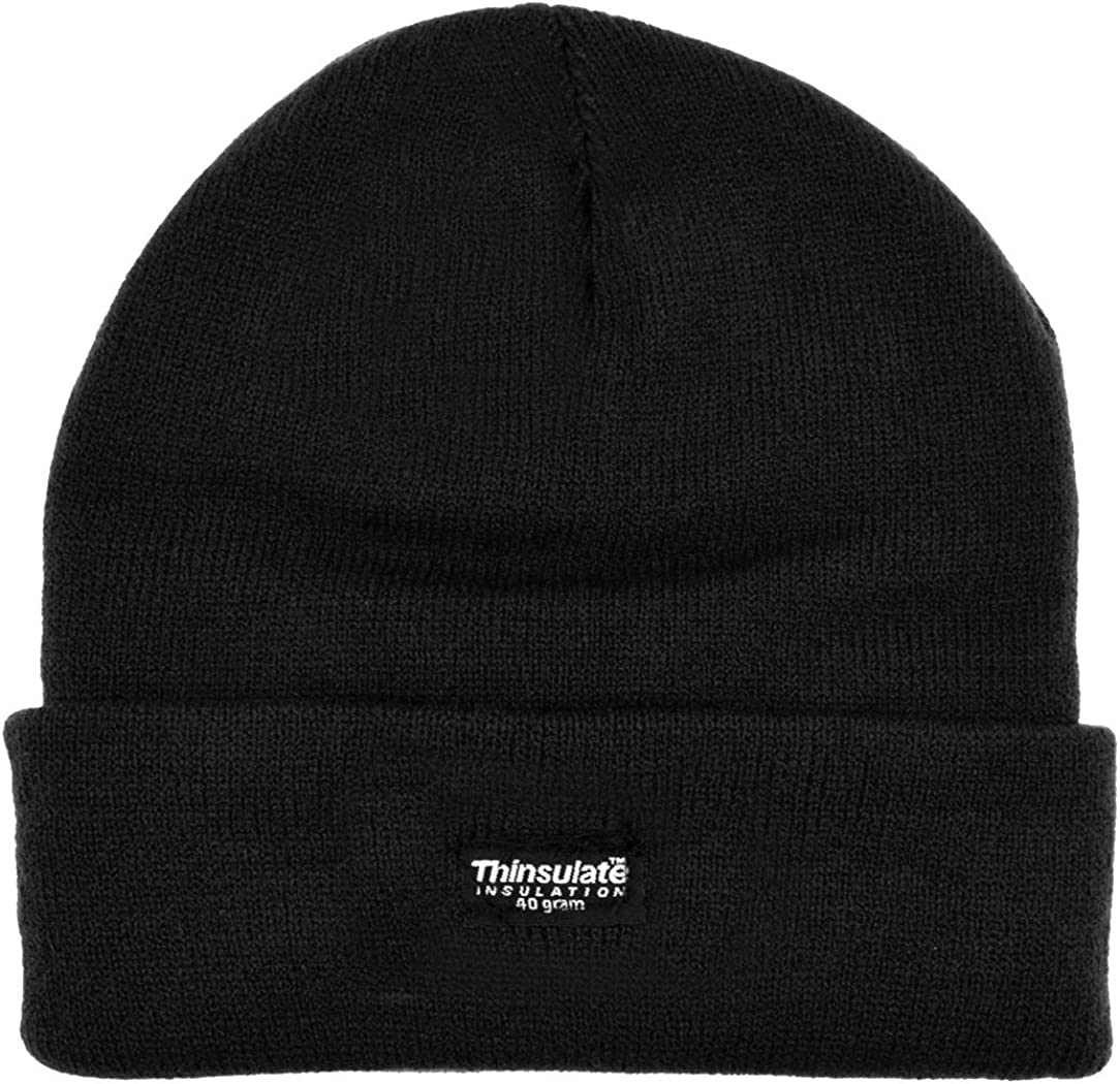 Boys Striped Thinsulate Knitted Beanie Winter Wear Thermal Lined Hat