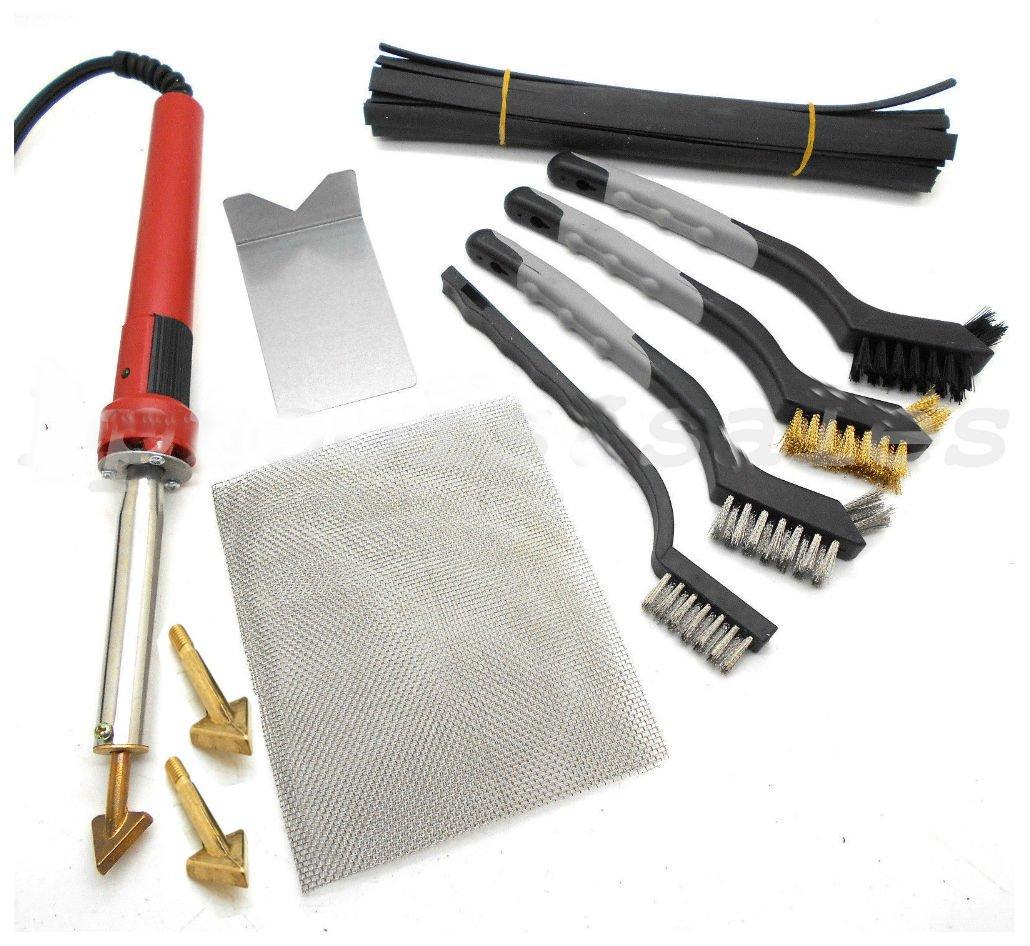 80W Iron Plastic Welding Kit TPO TEO PP Rod Mesh Auto Car Boat Bumper Repair Kit not applicable