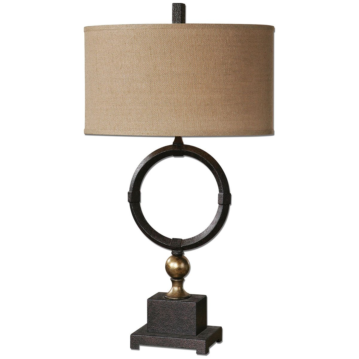 Amazon.com: Uttermost 26296 1 Pueblo Circle Table Lamp, Black: Home U0026  Kitchen
