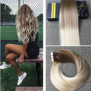 Amazon ugeat 22inch remy tape in hair extensions skin weft ugeat 22inch remy tape in hair extensions skin weft hair extensions ombre balayage hair color pmusecretfo Gallery