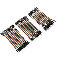 3 st färgglada 10 cm brödbräda jumper trådar band kablar kit 40 stift hane till hane/hona hona till hona för brödbräda