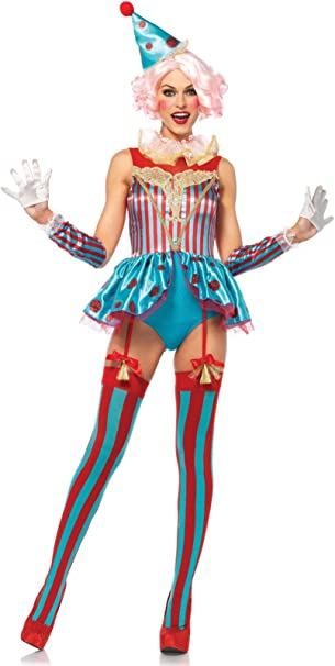 Leg Avenue delig htful Circo payaso para disfraz de mujer corta S ...