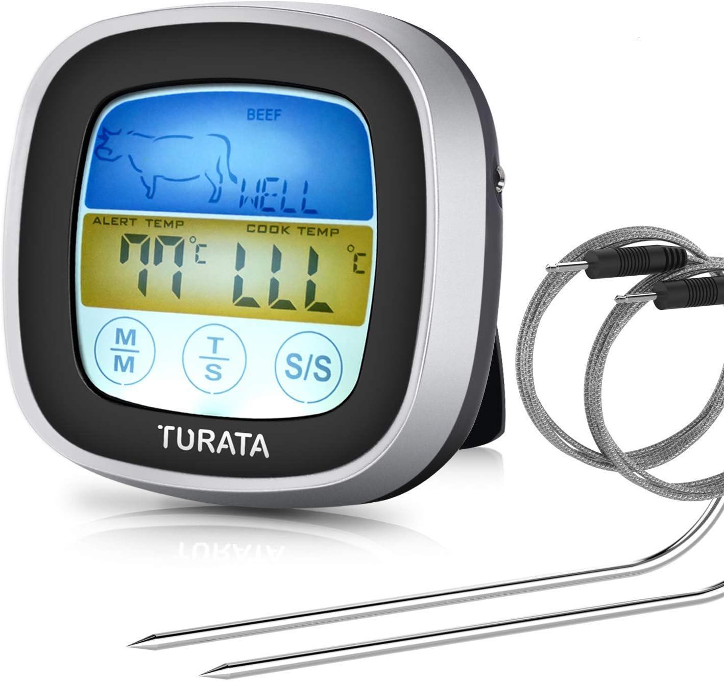 Digital LCD Grill BBQ Küche meter Fleischthermometer Bratenthermometer JO