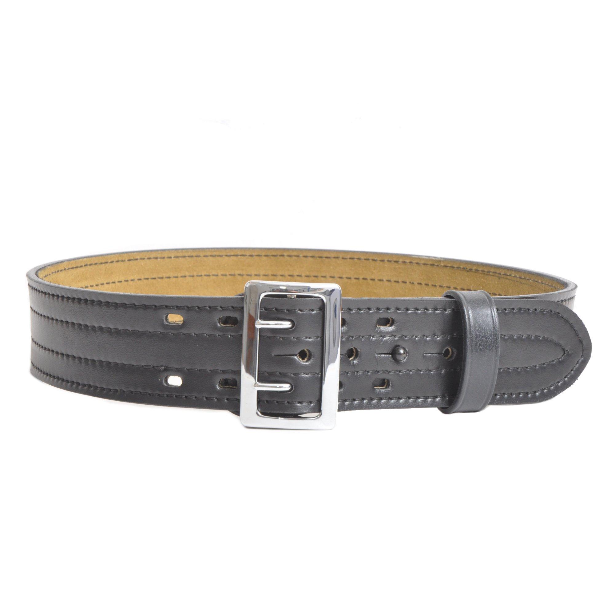 Safariland 87 Duty Belt Plain Black, Chrome Buckle, Size 34