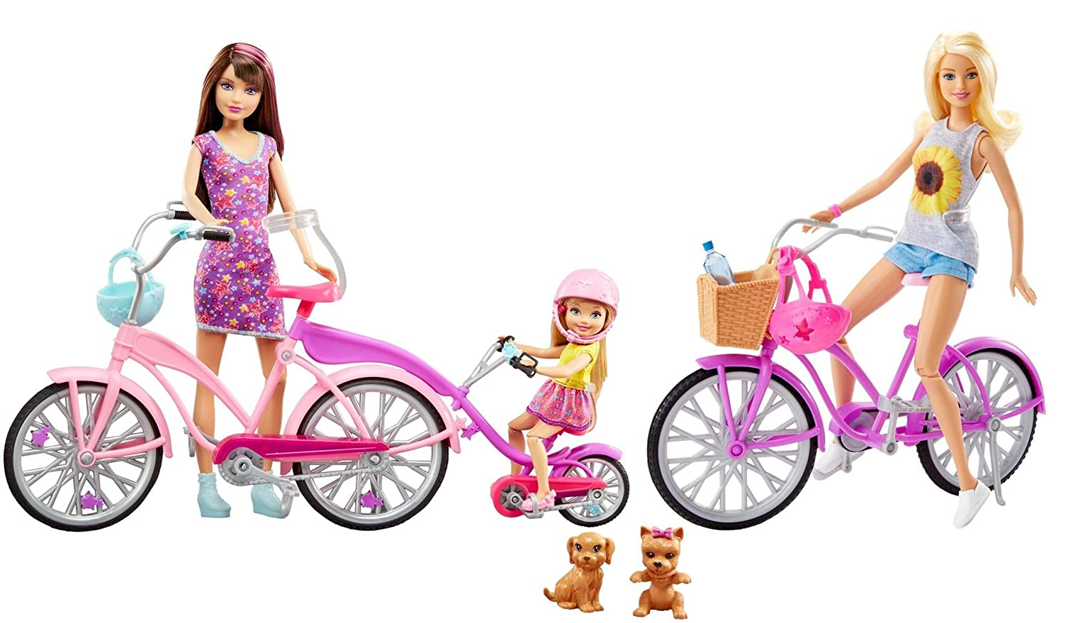 Barbie – Sisters Camping Fun vélo Cycle Set (Mattel dyr28)